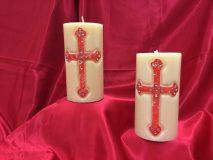 croce lineare rossa