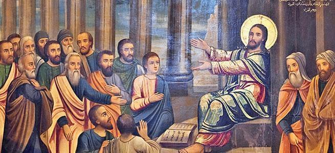 Gesù insegna nella sinagoga