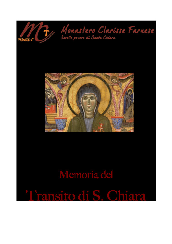 Transito di Santa Chiara 2020